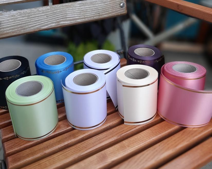 Farbe der Trauerschleifen Schwarz, weiß, blau, grün violett, rosa, creme